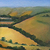 kate steele :: overlooking combe  :: oil on canvas