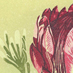 kate steele :: proteus bouquet #2 :: hand printed reduction linocut